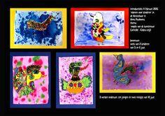 introductieles in de Keesschuur. 5 kinderen in de leeftijd van 5,6, en drie kinderen van 10 jaar maken mooi werk! 4 februari 2015