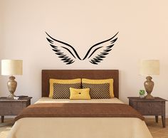 Angel Wall Decals Details About Angel Wings With Feathers Wall - Vinyl wall decals application instructions