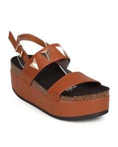 New-Women-Bumper-Tory-03-Leatherette-Open-Toe-Platform-Slingback-Footbed-Sandal