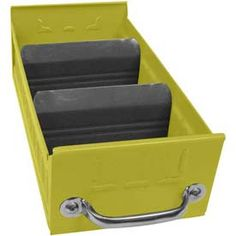 "Equipto Metal Shelf Drawer, 5-5/8""w x 17""D x 3-1/8""H, Textured Safety Yellow"