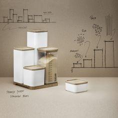 Aufbewahrungsboxen-Set, von Rig Tig - B x L 100 x 100   H 55 / 110 / 210 / 310 mm