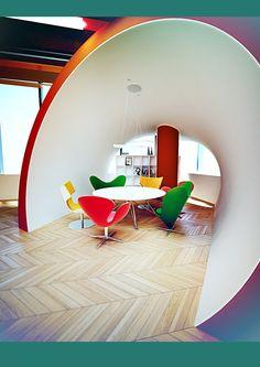 """Project office """"BOB"""" by Galina Lavrishcheva, via Behance"""