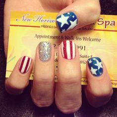 July 4th nails by Tony