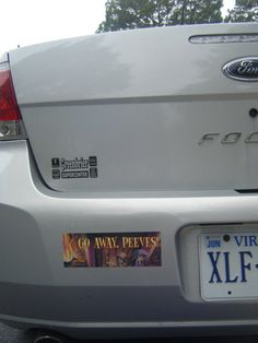 """Going on my car... when I get one. """"Go away peeves."""" Although, I think mine will say, """"We will never forget you Peeves"""" The movies were stupid that way, if you haven't read the books you wouldn't know."""