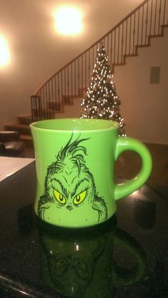Grinch mug Thanks! Grinch Christmas, Merry Little Christmas, Christmas Mugs, Winter Christmas, Christmas Time, Xmas, Grinch Stuff, Cricket Machine, Christmas Presents For Moms