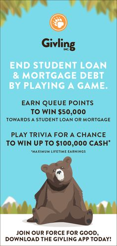 Download the free app and start playing now! The Givling Force For Good is a unique, supportive community that bands together to crowd fund and pay off student loan and mortgage debt. Use Invite Code - AJ493278 #debtfree #studentloans #givling #college #mortgage #collegegrad #collegestudent #collegegraduate #scad #scadgrad #scadsavannah #scadatlanta