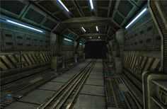 Sci_Fi_corridor by Mellon3D.deviantart.com on @DeviantArt