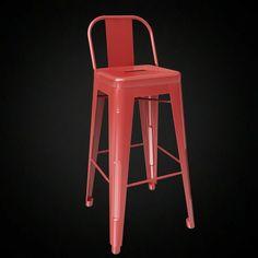 Tolix Wide Back Bar Stool 3D model - 3D furniture model - Use PROMO CODE: pin3d and get 20% off - $13.00