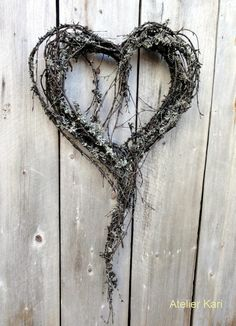Natural Elements Heart Wreath