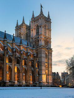 Westminster Abbey - Snow Blanket, London