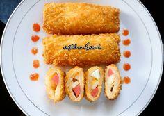 Resep Risol Roti Tawar Sosis Mayonnaise oleh Asih NurlitaSari - Cookpad Indonesian Desserts, Indonesian Food, Food N, Food And Drink, Roti Bread, Kids Menu, Wrap Sandwiches, Biscuit Recipe, Mayonnaise
