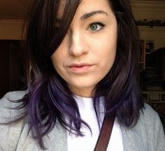 I Transformed My Brown Mop Of Hair To A Choppy Violet Ombre, Check Out The Before And After!