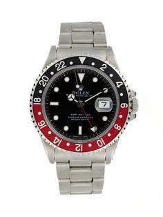 Rolex Stainless-Steel GMT Master Watch (c. 1990s) by Vintage Rolex at Gilt