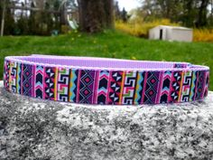 Girly Aztec 1 Inch Width Dog Collar by WillyWoofs on Etsy, $18.00