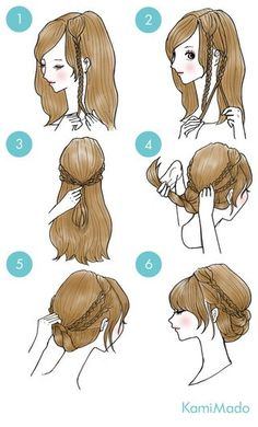 Image via We Heart It #diy #draw #girl #hair #hairstyle #tutorial