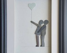 Now with sea glass heart balloon