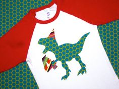 Dinosaur T-Rex Birthday Shirt Boys Birthday by wigglesandgiggles1