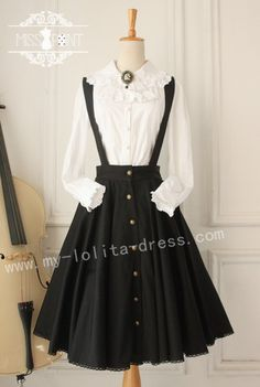 Miss Point ***Wounds of Cross*** Gothic Vintage Lolita Salopette