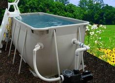 Aquatic Therapy Pools Aqua Therapy Pools are in great demand these days and these small pools fit almost anywhere and provide you with the warm water therapy you need to live a happy healthy life
