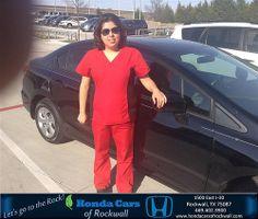 Congratulations to Grecelda Salgado on your #Honda #Civic Sedan purchase from Jeremy Bilbo at Honda Cars of Rockwall! #NewCar