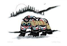 Canadian Art Prints and Winn Devon Art Group Inc. Haida Kunst, Arte Haida, Haida Art, Native Art, Native American Art, Tatouage Haida, Wolverine Animal, Badger Illustration, Haida Tattoo