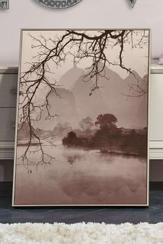 Create drama in your home with statement wall art pieces like our tranquil lake scene.