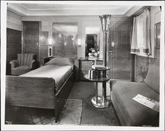 S.S. Normandie Stateroom 529 Cabin Class, ca. 1935