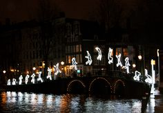 The Amsterdam canals and Light Festival