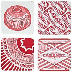 Unbranded Gillian Kyle Tunnock's Teacake & Caramel Wafer Coaster, Pack of Four - ShopStyle Tunnocks Tea Cakes, Advanced Higher Art, Marshmallow Treats, Glasgow School Of Art, High Art, Tk Maxx, Coaster Set, Textile Design, Icon Design