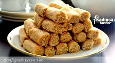Tahinli Çıtır Rulo Tarifi Turkish Tea, Tea Time Snacks, Arabic Sweets, Cookie Do, Cookies Policy, Fun Desserts, Almond, Pizza, Food