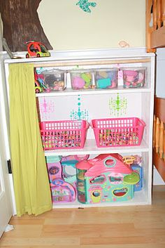 Littlest Pet Shop storage shelf. Or could be any type of storage Doll Storage, Shop Storage, Storage Shelves, Kids Storage, Shelf, Little Pet Shop, Little Pets, Shopkins, Diy Pour Enfants