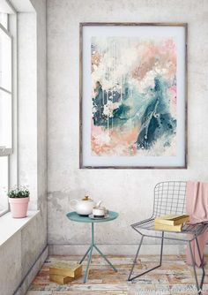 Nordic_sky_Prelude_abstract_wall_art_print_scandi_room_by_Kate_Fisher