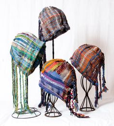 Hand woven Saori hat Forest to the sea : by saorisantacruz