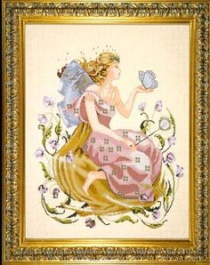 Butterfly Fairy Counted Cross Stitch Pattern  #crossstitch #fairy #butterfly #cross_stitch #fairies #fantasy #pattern #needlework