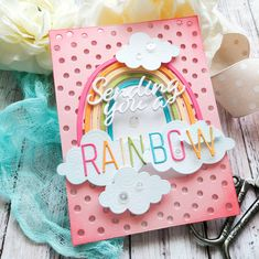 Rainbow Card, Rainbow Unicorn, Scrapbook Supplies, Easy Gifts, Baby Design, Clear Stamps, Making Ideas, Gift Tags, Card Making