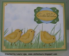 I decided to make some of these cards to mail to family for my Easter card this year.  Aren't these little chicks the cutest!! I made them u...