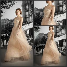 Wholesale Formal Evening Dresses - Buy Lace Applique Crystle Beaded Strapless Long Formal Evening Dresses Champagen Charming Party Prom Dress Gowns No Sleeve Sexy, $81.55 | DHgate