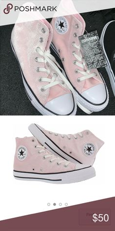 ebf2159beb674d velvet light pink converse brand new with tags!! Converse Shoes Sneakers