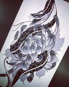 Small Japanese Tattoo, Japanese Snake Tattoo, Japanese Tattoo Designs, Japanese Sleeve Tattoos, Aztec Tribal Tattoos, Tribal Shoulder Tattoos, Mens Shoulder Tattoo, Tattoos Skull, Irezumi Tattoos