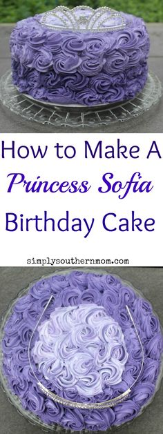 Having a Princess Sofia birthday party? Make this adorable Princess Sofia Birthday Cake to celebrate! This cake can be changed to suite the colors of any Disney Princess party and can also be used for wedding shower cakes or bridal shower cakes.