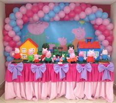 Peppa Pig Balloons, 2nd Birthday, Birthday Parties, George Pig, Pig Party, Birthdays, Party Ideas, Cakes, Kid Desk