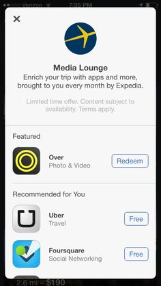 Expedia App Recommendations PopUp