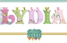 Owls Trees Flowers and Leaves Themed Personalized Childrens Wood Letters