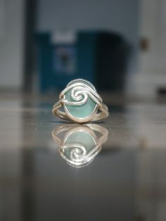 sea glass ring- I have to try this. Hardest part is finding the sea glass.