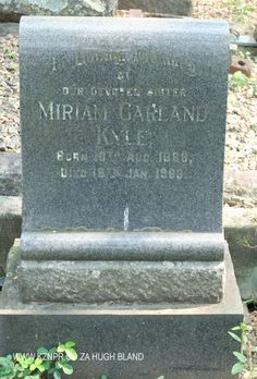 Headstone of Miriam Garland Kyle Adobe Photoshop Elements, Family History, Digital Image, South Africa, Garland, Xmas, Garlands, Genealogy, Floral Crowns