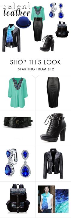 """""""patent leather"""" by ilona-giladi ❤ liked on Polyvore featuring Boohoo, Johnny Loves Rosie, Charlotte Russe, Bling Jewelry, WithChic, Wild Pair, NOVICA and patentleather"""