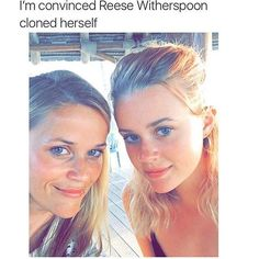 REESE WITHERSPOON WHAT THE FUCK PLEASE EXPLAIN HOW YOUR DAUGHTER LOOKS LIKE YOU WITH LESS LENO CHIN IS THIS SOME ILLUMINATI SHIT?