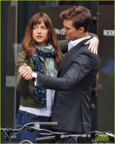 Jamie Dornan & Dakota Johnson Dance for 'Fifty Shades of Grey'!: Photo Jamie Dornan and Dakota Johnson share a sweet dance while filming a scene for their film Fifty Shades of Grey on Thursday (December in Vancouver, Canada.