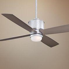 "52"" Minka Aire Strata Galvanized Ceiling Fan with Light Kit - #X0134 | LampsPlus.com"