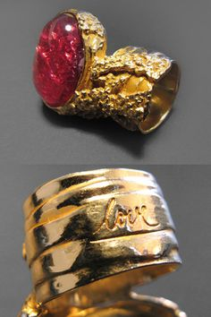 Yves Saint Laurent special Love edition Arty ring